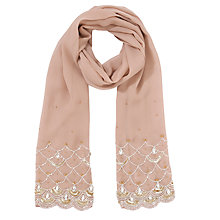 Buy John Lewis Scalloped Edge Wrap, Rose Online at johnlewis.com