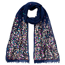 Buy John Lewis Scattered Sequin Scarf, Navy Online at johnlewis.com