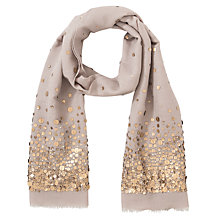 Buy John Lewis Sequin Scarf, Taupe Online at johnlewis.com