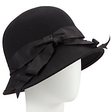 Buy John Lewis Cloche Bow Hat, Black Online at johnlewis.com