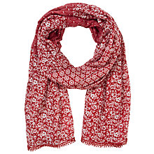 Buy Collection WEEKEND by John Lewis Garden Scarf, Red Online at johnlewis.com