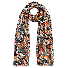 Buy Collection WEEKEND by John Lewis Floral Print Scarf, Khaki Online at johnlewis.com