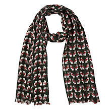 Buy Collection WEEKEND by John Lewis Owl Print Scarf, Khaki Online at johnlewis.com