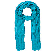 Buy Collection WEEKEND by John Lewis Plain Crinkle Scarf, Teal Online at johnlewis.com