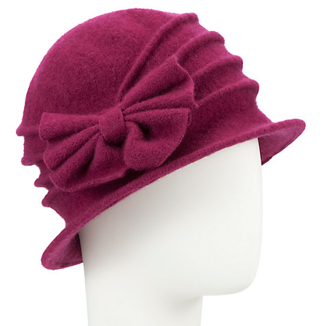 Buy John Lewis Wool Pleated Bow Detail Cloche Hat Online at johnlewis.com