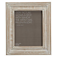 Buy John Lewis Limed Wood Photo Frame, 8 x 10 (20 x 25cm) Online at johnlewis.com