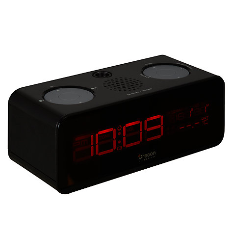 Buy Oregon Scientific FM Projection Alarm Clock, Black Online at johnlewis.com
