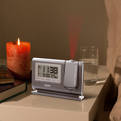 Buy Oregon Scientific Classic Projection Alarm Clock, Silver Online at johnlewis.com