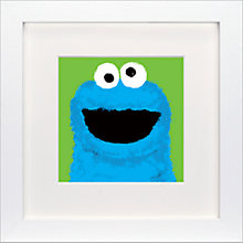 Buy Sesame Street - Cookie Monster Framed Print, 23 x 23cm Online at johnlewis.com