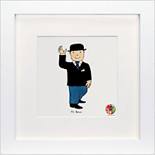 Buy David Mckee - Mr Benn Framed Print, 23 x 23cm Online at johnlewis.com