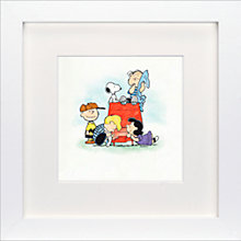 Buy Schulz - Charlie Brown, Snoopy and Woodstock Framed Print, 23 x 23cm Online at johnlewis.com