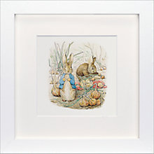 Buy Beatrix Potter - Peter Rabbit and Benjamin Bunny Framed Print, 23 x 23cm Online at johnlewis.com