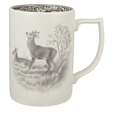 Spode Rural Delamere for John Lewis Deer Mug, 0.35L, Grey