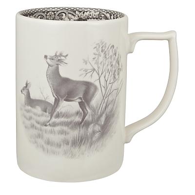 Spode Rural Delamere for John Lewis Deer Mug, 0.35L, Grey