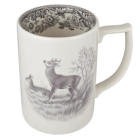 Buy Spode Rural Delamere for John Lewis Deer Mug, 0.35L, Grey Online at johnlewis.com