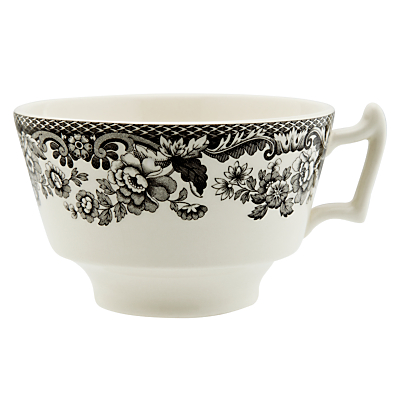 Spode Rural Delamere for John Lewis Tea Cup & Saucer, 0.2L, Grey