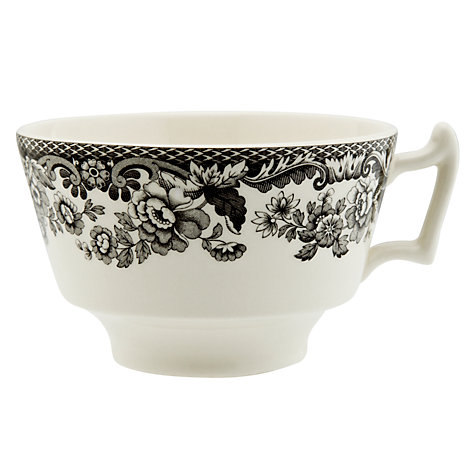 Buy Spode Rural Delamere for John Lewis Teacup & Saucer, 0.2L, Grey Online at johnlewis.com