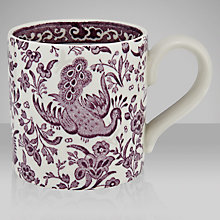 Buy Burleigh Apprenticeship Chinese Peacock Mug, Plum Online at johnlewis.com