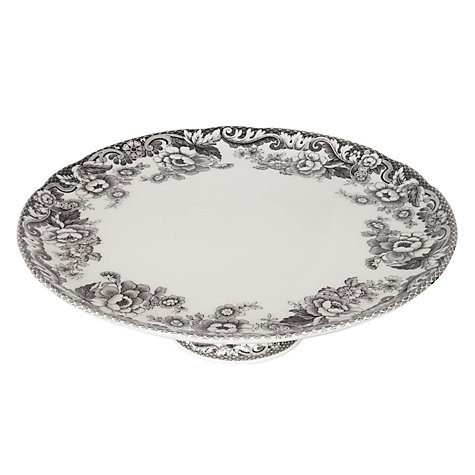 Buy Spode Rural Delamere for John Lewis Cake Stand, Dia.27cm, Grey Online at johnlewis.com