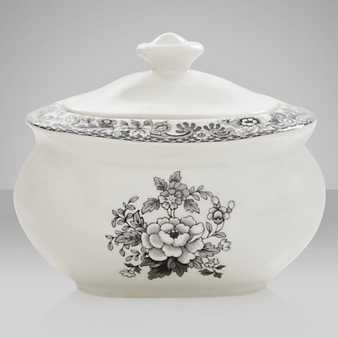 Buy Spode Rural Delamere for John Lewis Sugar Pot, 0.25L, Grey Online at johnlewis.com