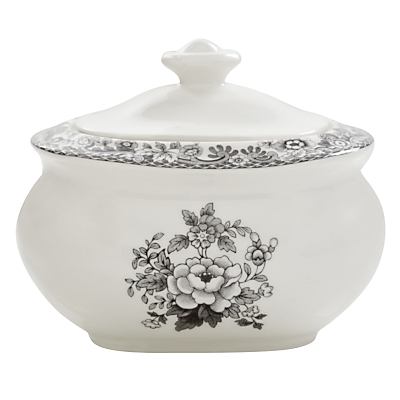 Spode Rural Delamere for John Lewis Sugar Pot, 0.25L, Grey