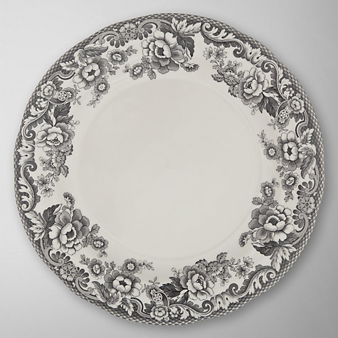 Buy Spode Rural Delamere for John Lewis Dinner Plate, Dia.27cm, Grey Online at johnlewis.com