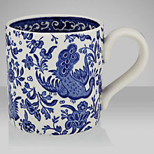 Buy Burleigh Apprenticeship Chinese Peacock Mug, Blue Online at johnlewis.com