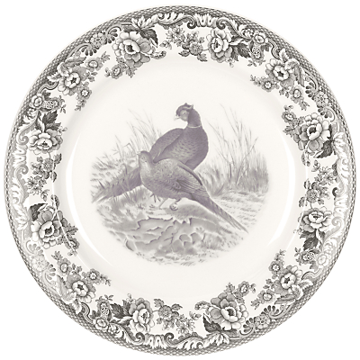 Spode Rural Delamere for John Lewis Buffet Plate, Dia.30cm, Grey