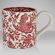 Buy Burleigh Apprenticeship Chinese Peacock Mug, Red Online at johnlewis.com