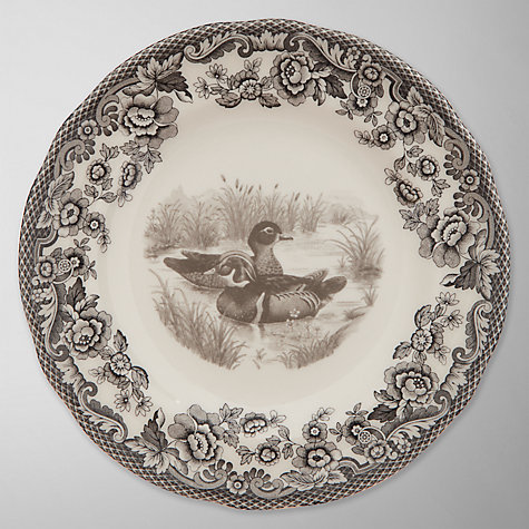 Buy Spode Rural Delamere for John Lewis Duck Side Plate, Dia.15cm, Grey Online at johnlewis.com