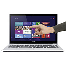 "Buy Acer Aspire V5-571P Laptop, Intel Core i5, 1.8GHz, 8GB RAM, 750GB, 15.6"" Touch Screen, Silver Online at johnlewis.com"