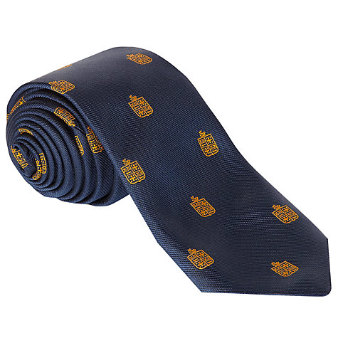 Buy Colfe's School Sixth Form Boys' Tie, Navy Blue/Gold Online at johnlewis.com
