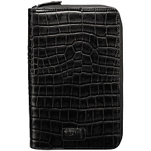 Buy OSPREY LONDON Croc Leather Travel Document Holder, Black Online at johnlewis.com