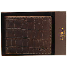 Buy OSPREY LONDON The Oak Bi-Fold Leather Wallet, Chocolate Online at johnlewis.com
