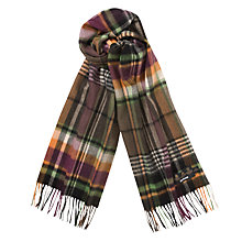 Buy Barbour Plaid Scarf, Multi Online at johnlewis.com