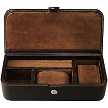 Buy OSPREY LONDON Leather Watch and Accessories Box, Brown Online at johnlewis.com