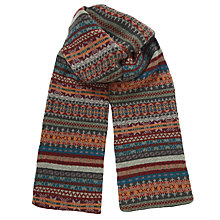 Buy Barbour Melrose Fair Isle Scarf, Blue/Red Online at johnlewis.com