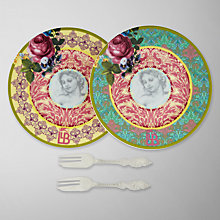 Buy Arthur Price Let Them Eat Cake Canape Plate and Fork Set Online at johnlewis.com