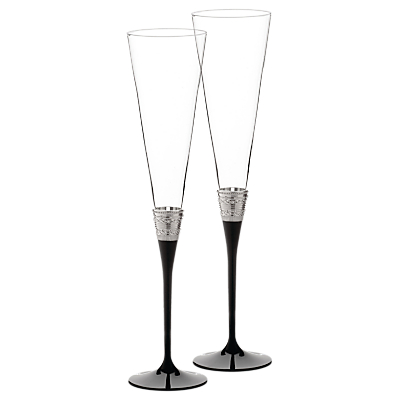 Vera Wang With Love Flutes, Set of 2, Black