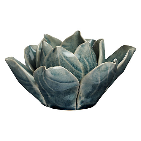 Buy Brissi Flower Tealight Holder, Teal Online at johnlewis.com