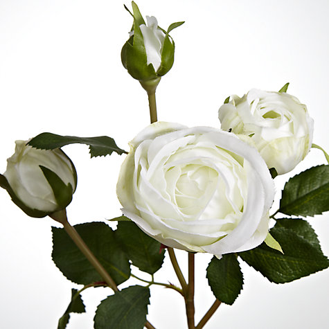 Buy Floral Silk Rose Spray, Cream Online at johnlewis.com