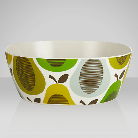 Buy Orla Kiely Pitcher Melamine Salad Bowl, Pear Mint Online at johnlewis.com