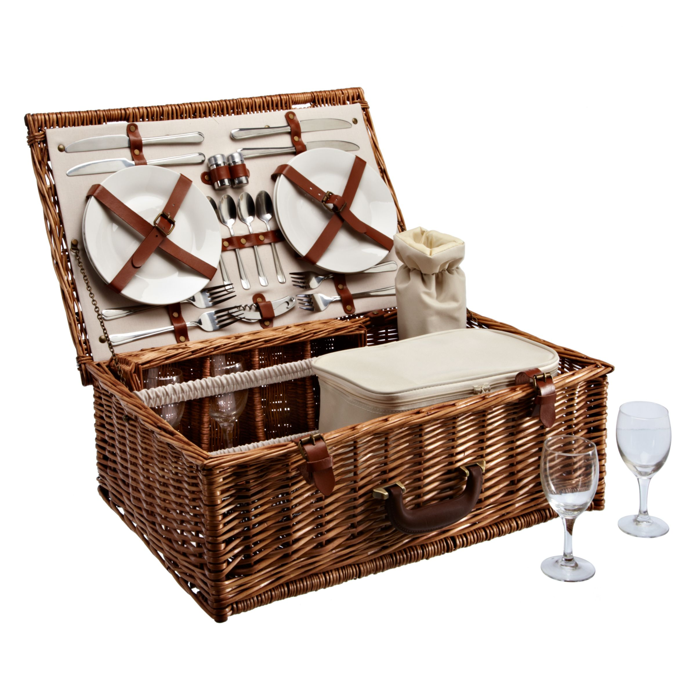 John Lewis Willow Luxury Picnic Hamper, 4 Persons