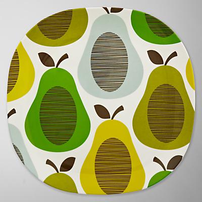 Orla Kiely Melamine Dinner Plate, Pear Mint