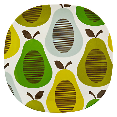 Buy Orla Kiely Melamine Dinner Plate, Pear Mint Online at johnlewis.com