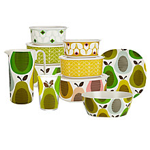 Buy Orla Kiely Pear Picnicware, Mint Online at johnlewis.com