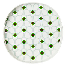 Buy Orla Kiely Wallflower Melamine Tray, Peppermint Online at johnlewis.com