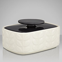 Buy Orla Kiely Raised Stem Butter Dish, Cream/Charcoal Online at johnlewis.com