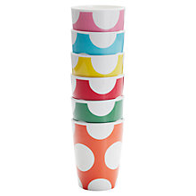 Buy Cath Kidston Big Spot Beakers, Set of 6 Online at johnlewis.com