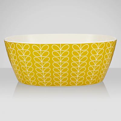 Orla Kiely Stem Melamine Salad Bowl, Lemon